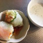 タイ東北料理イサーンキッチン - 生春巻き、デザートのサクーもたっぷり