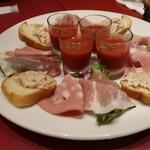 銀座ワイン食堂 パパミラノ - 前菜。