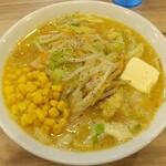 くじら食堂 - (限定)野菜たっぷり味噌タンメン+コーンバター 1050円
