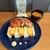 創作和食WATANABE - 洋風のランチプレートだけど、和風のだし巻き揚げサンドにお出汁の効いた味噌汁が違和感なくマッチ