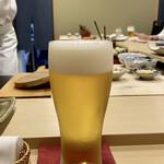 鮨かねみつ - 生ビール