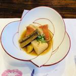 黒潮本陣 - 温物:金目鯛煮付け・豆腐・牛蒡・生姜