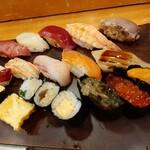 Azumazushishinten - 寿司アップ
