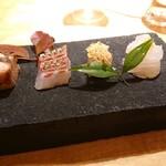140675658 - ①前菜、4種のお魚料理