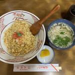 武蔵屋食堂 - 焼めし、半素ラーメン