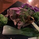 まるげ - イベリコ豚のロースト仁淀川さんしょ風味