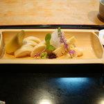 日本料理 竹茂 - 筍の刺身