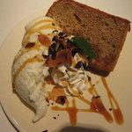 SUNNY PLACE CAFE - 紅茶シフォン+バニラアイスと生クリーム