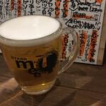 スタンド メェ - ドリンク写真:生ビール380円