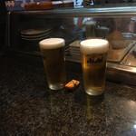 亀すし - 生ビール