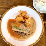 Cafe&Restaurant Sincerite - 富山牛とイベリコ豚のハンバーグ200g 自家製ベーコンを添えて