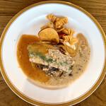 Cafe&Restaurant Sincerite - 富山牛とイベリコ豚のハンバーグ200g 自家製ベーコン