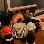 のっけ家 - テーブルの卓上