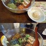 麺場ながれぼし - 若手っぽい五輪麺スタンプラリー『キノコ戦隊五麺ジャー+味玉(¥900+50)』