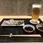 蘇月 - 料理写真:お造り・ビール