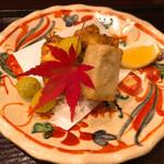 Toritanaka - 丹波産海老芋と小柴産の天然とら河豚の唐揚げ