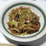 めんきち - 翌日の昼餉、「五福星監修・シルク麺焼きそば」を作りました