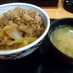 吉野家 - 牛丼(並)と味噌汁