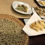 140760841 - 穴子天ざる/牡蠣の天ぷら/マイタケの天ぷら