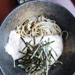 栄茶屋 - 自然薯そば(冷) 1380円