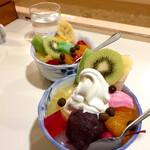 どんぐり - フルーツみつ豆とスペシャルクリームあんみつ