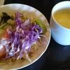 Matagitei - 料理写真:ランチセットのパンとスープ