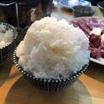 炭火焼肉ホルモン 横綱三四郎 - ご飯(大盛り)