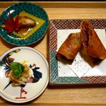 Ebisuchuukataizan - 前菜2種と点心