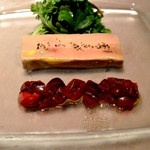 リシュール 苦楽園 - フランス産フォアグラカナ―ルのテリーヌ アメリカンチェリ―のサラダ