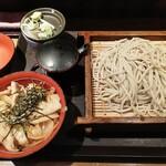 さ竹 - 蕎麦・生姜焼き丼セット