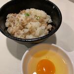 麺屋 侍 - 鶏そぼろご飯&名古屋コーチン卵