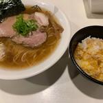 麺屋 侍 - 名古屋コーチン支那そばVer師弟の絆と名古屋コーチンTKG