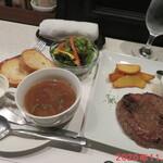 ステーキハウス 听 - 熟成和牛ハンバーグ 1380円(税別)