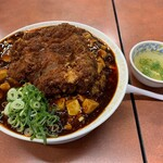 甲子園一貫樓 - 料理写真:チキンカツ麻婆飯大盛①