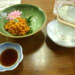 14080856 - ウニ刺しと日本酒利尻富士