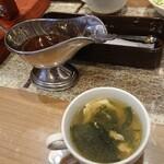 鉄板グリルダイニング弘路 - スープとステーキのタレ