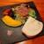 Tenerezza - ランチは全て自家製フォカッチャや窯焼き野菜とサラダ付き、窯焼き野菜は硫黄の風味がする赤いブラックソルトで