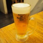 麺や 鳥の鶏次 - 生ビール