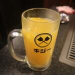 キジー - サービスのオレンジジュース