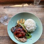 関内バル 333 - 三元豚のグリル トマトバルサミコ
