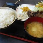 焼肉山吉 - 料理写真:本日の日替りランチ(牛タン、ライス大)