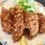 食堂もり川 - 料理写真:カキフライです 大粒の牡蠣が6つです これは嬉しいボリュームです