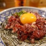 熊本バル うせがたん - 馬肉のユッケ丼(大盛り無料) 1000円