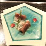 鉄板・お好み焼き 蓮 - 生ハムとフルーツトマト