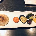 鉄板・お好み焼き 蓮 - 焼き野菜