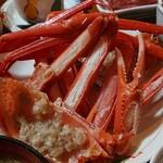 味処・民宿 まつや - 日本海定食の紅ズワイガニ