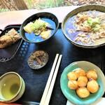 140848255 - 201114土 栃木 龍頭之茶屋 肉そば、雑煮、ちまき、団子