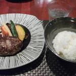 14085222 - ハンバーグと焼き野菜とご飯