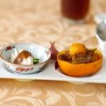 周中菜房 白金亭 - 棒棒鶏と牛肉と柿の炒め物