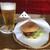 三丁CAFE - ハンバーガー単品税込700円セットドリンクにビール+税込200円